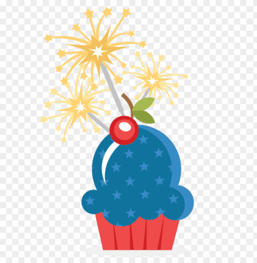 cupcake clipart july 4th.