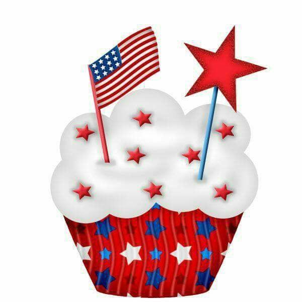 4th of July Cupcake.