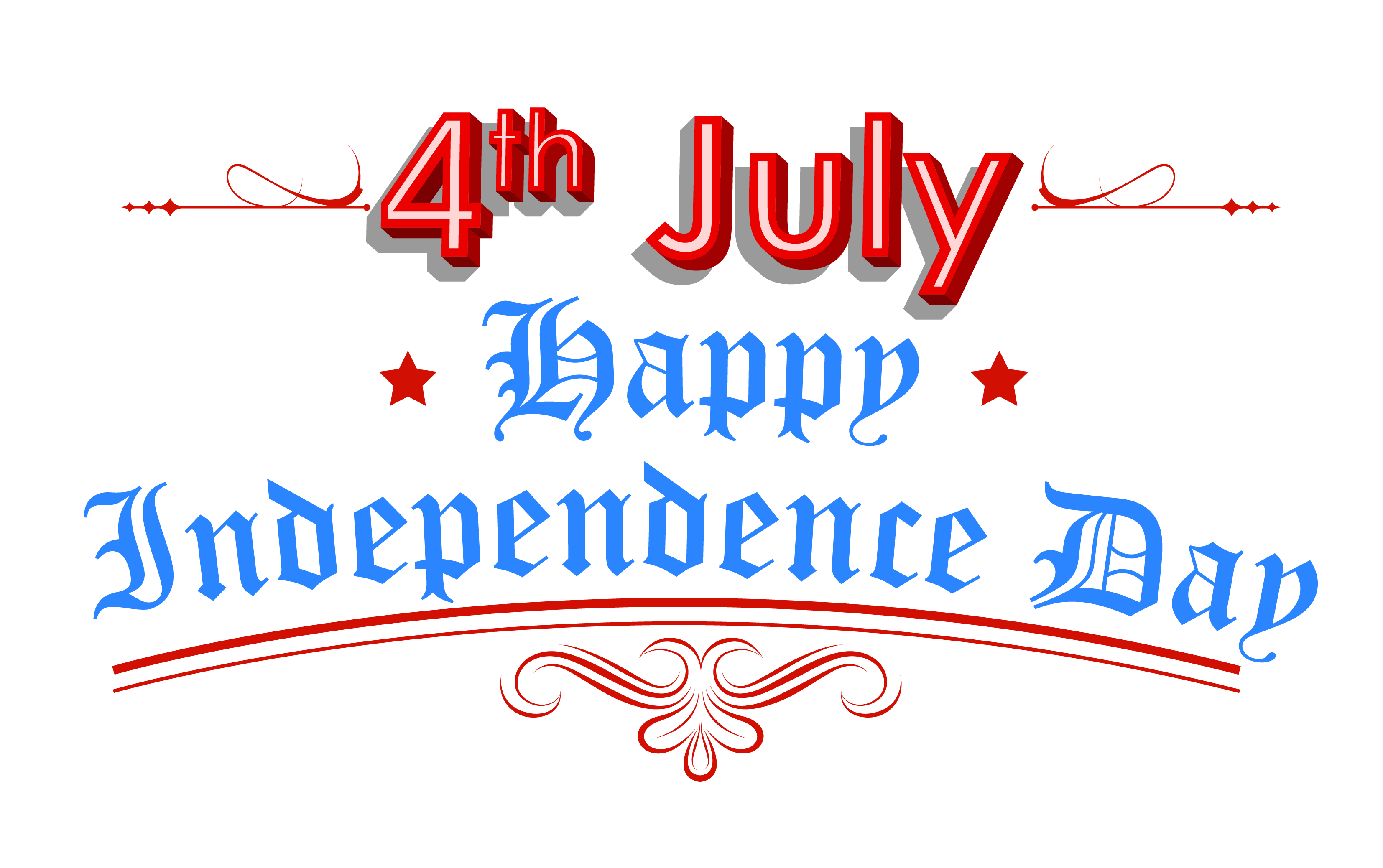Happy Independence Day 4th July Clipart.