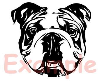 Bulldog USA Flag Glasses Paw Silhouette SVG clipart French Dog 4th July 846S.