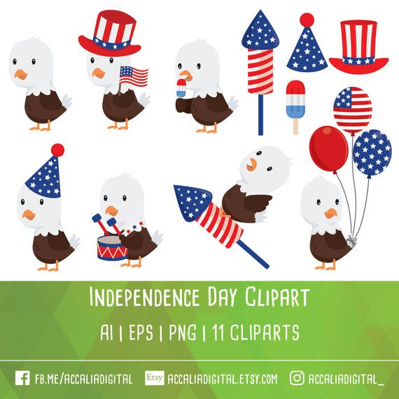 50% OFF Fourth of July clipart Independence day by.