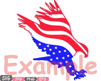 American flag Eagle Eagles independence day 4th of July Clipart birds USA.