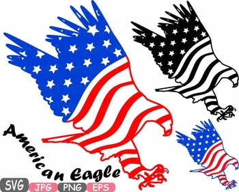 American flag svg Eagle Eagles independence day 4th of July Clipart birds.