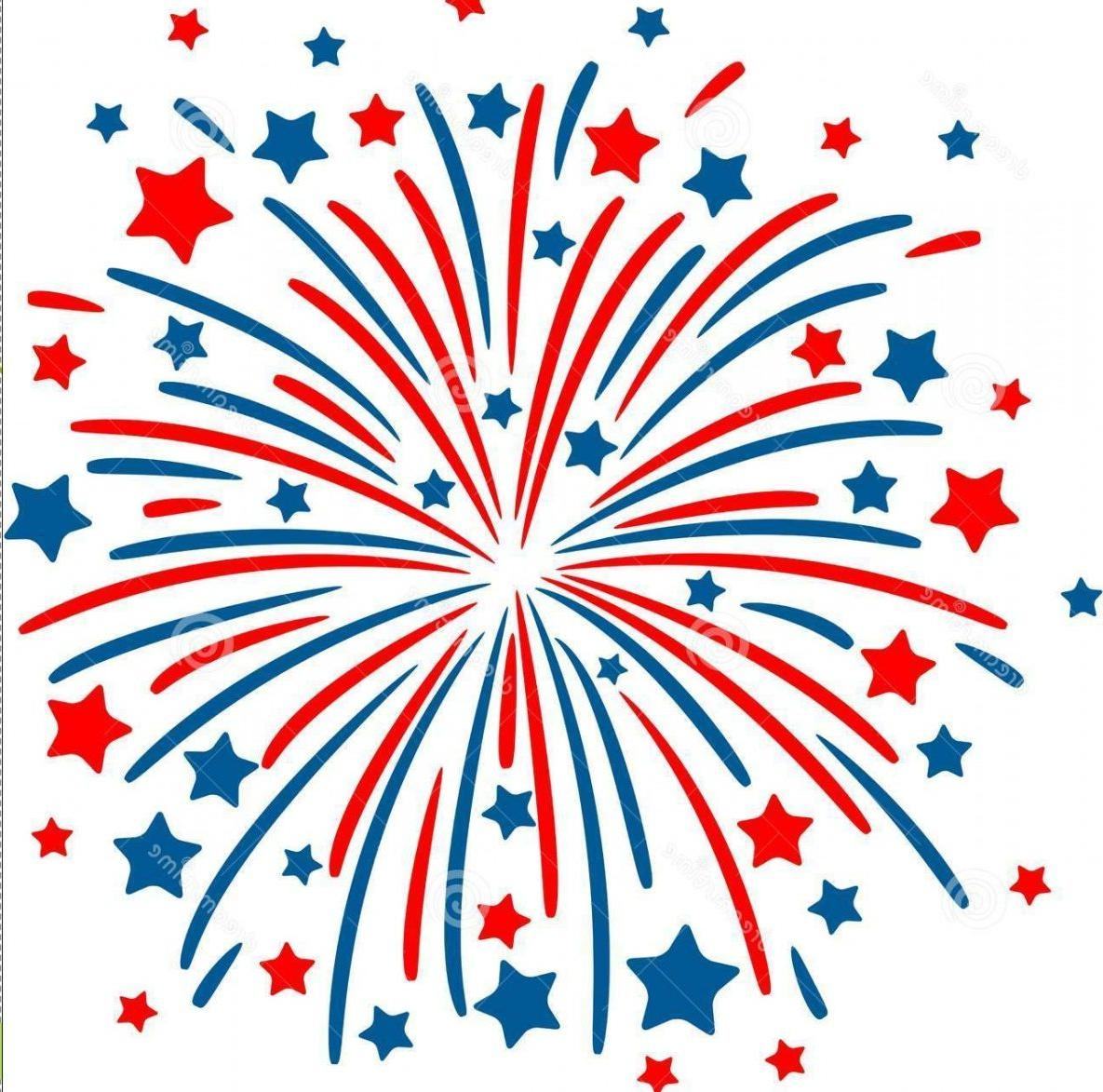 Best Fourth Of July Fireworks Vector Drawing » Free Vector Art.