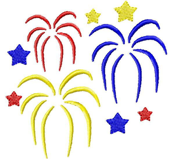 4th of july fireworks clipart free 4.
