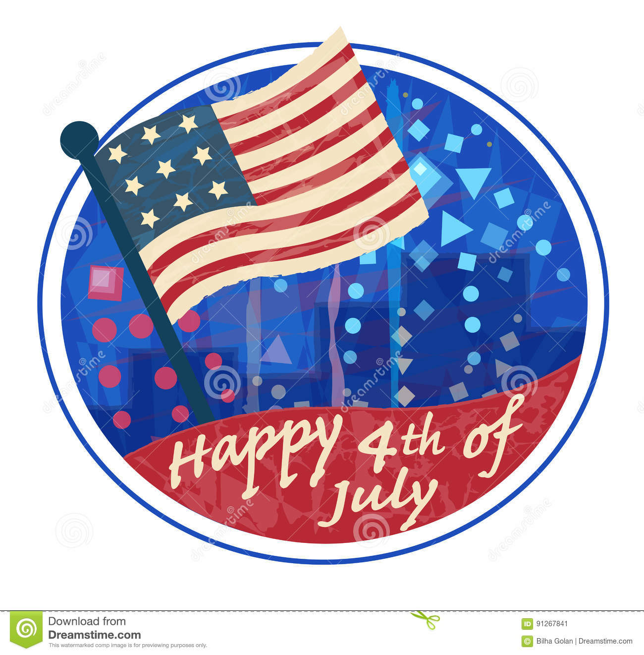 Fourth of July Clip art stock vector. Illustration of design.
