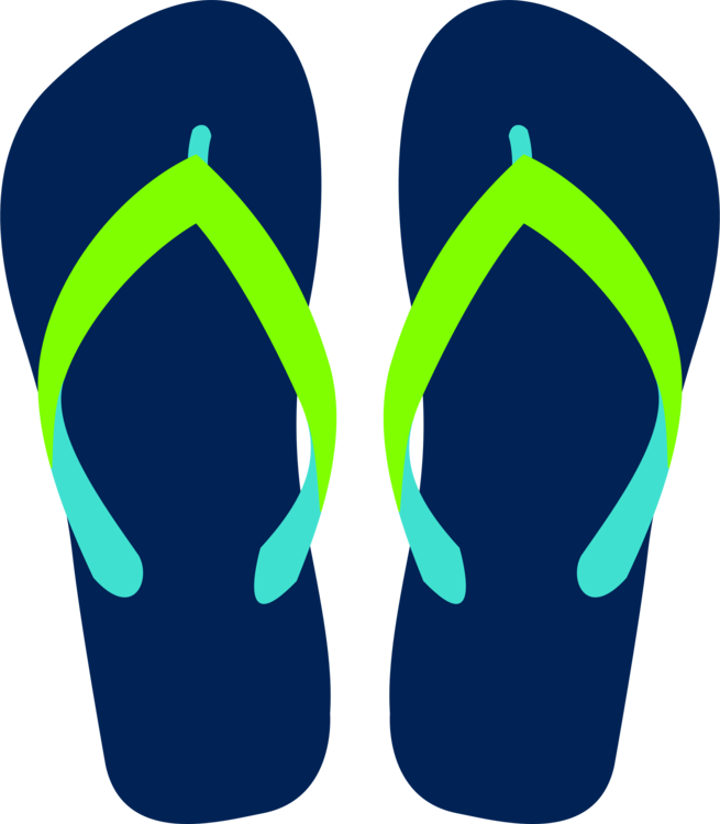 Flip Flop Clipart Black And White.