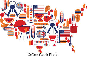 4th of july food Clipart Vector Graphics. 254 4th of july.