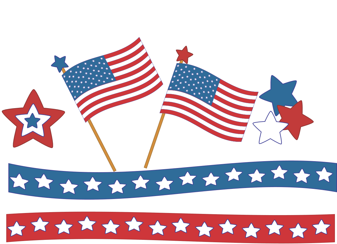 4th of july borders clip art.