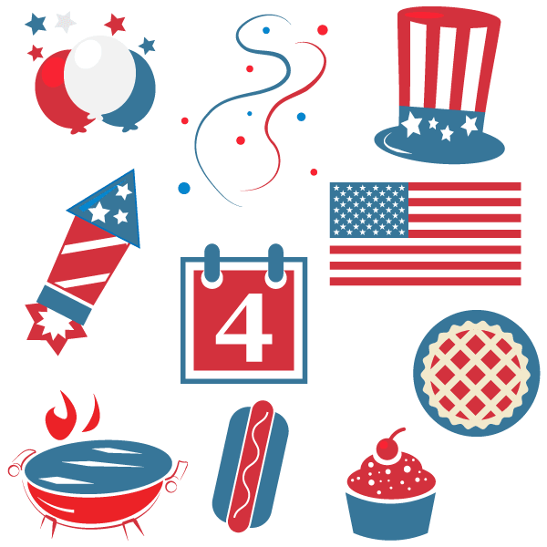 505 Fourth Of July free clipart.