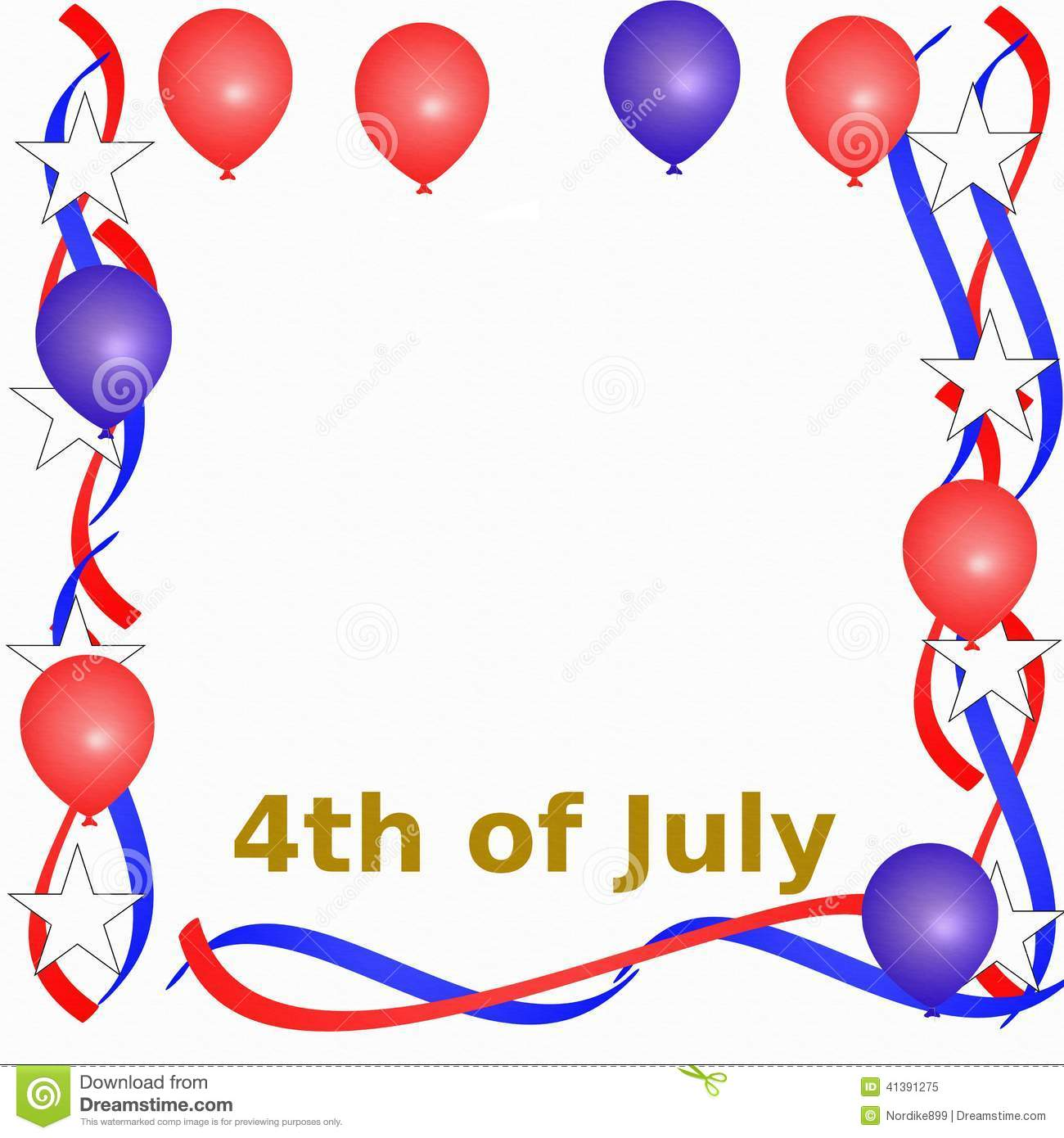 4th of July Frame stock illustration. Illustration of fourth.