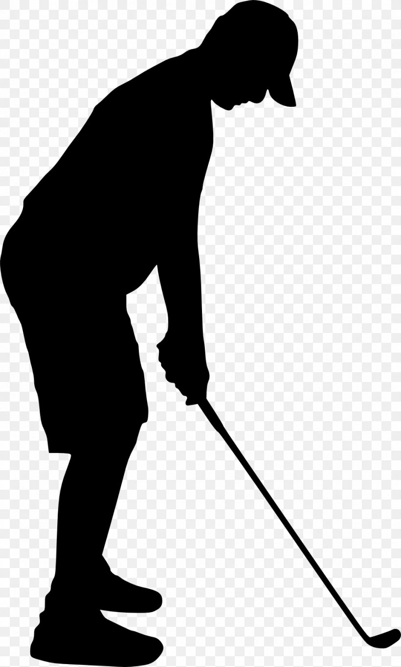 Silhouette Golfer Clip Art, PNG, 959x1593px, Silhouette.
