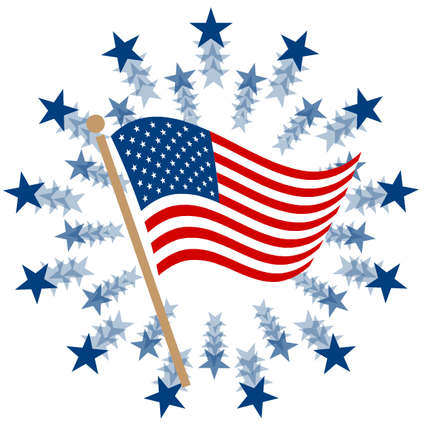 Happy Fourth Of July Clipart.