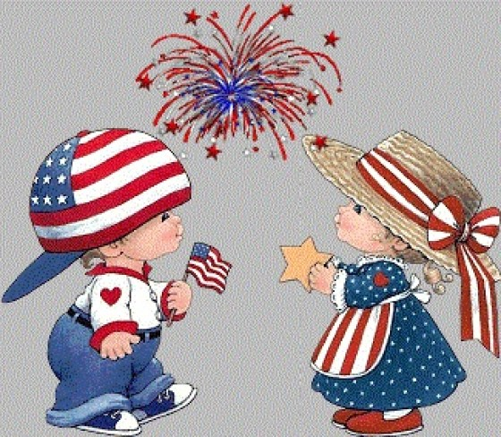 4th of July Craft, Clipart, Sketch, Drawing, Printable Card.