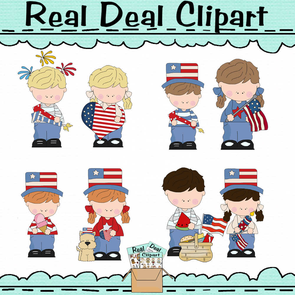 4th of July Kids OOAK Clipart and 50 similar items.