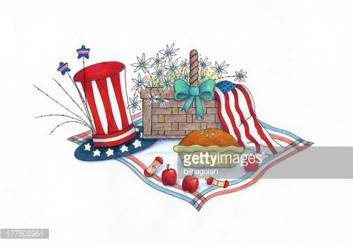 4th of July Picnic premium clipart.