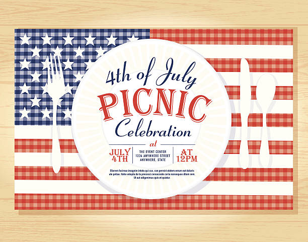 Best Fourth Of July Picnic Illustrations, Royalty.