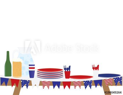 4th of july Picnic table.