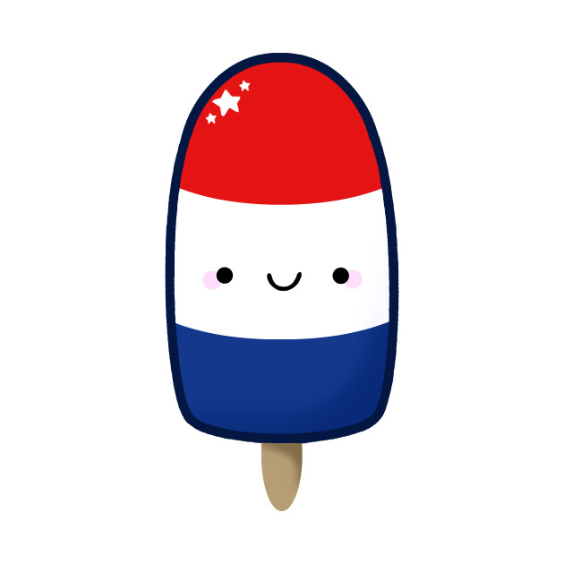 Red White And Blue Popsicle Clipart.