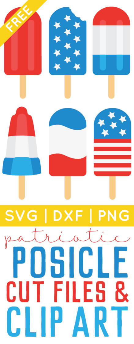 4th of July Popsicle Cut Files + Clip Art.