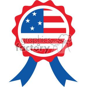 4th of july award ribbon vector icon clipart. Royalty.