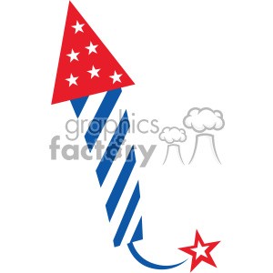 4th of july rocket firework vector icon clipart. Royalty.