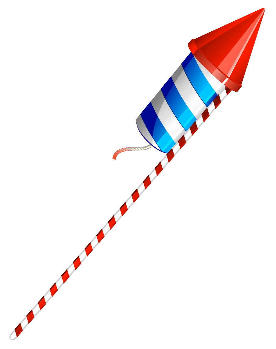 Happy Fourth Of July Fireworks transparent PNG.