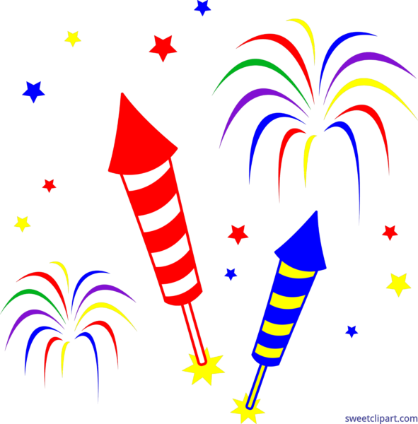 Clipart Rocket July 4th.