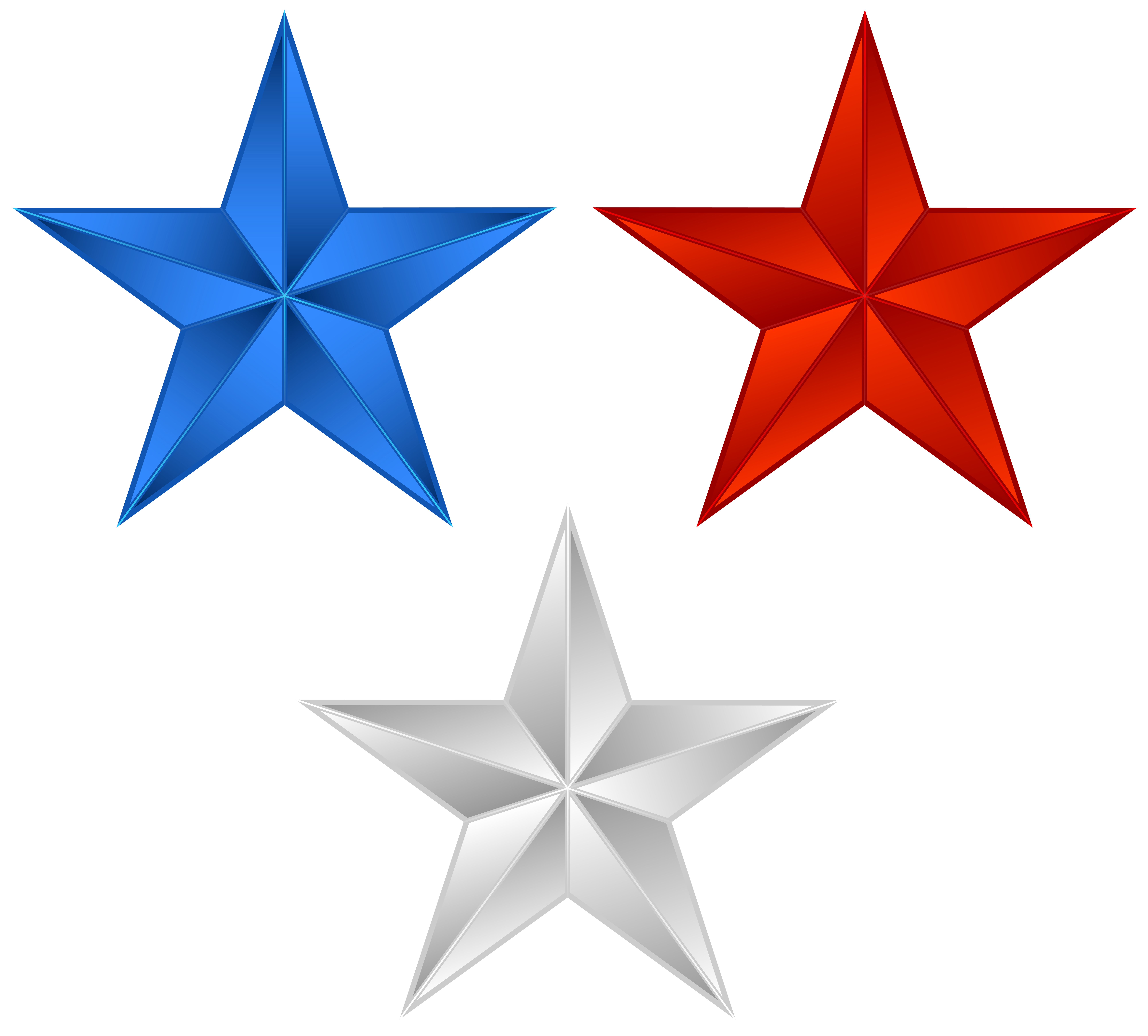 America Stars PNG Clip Art Image.