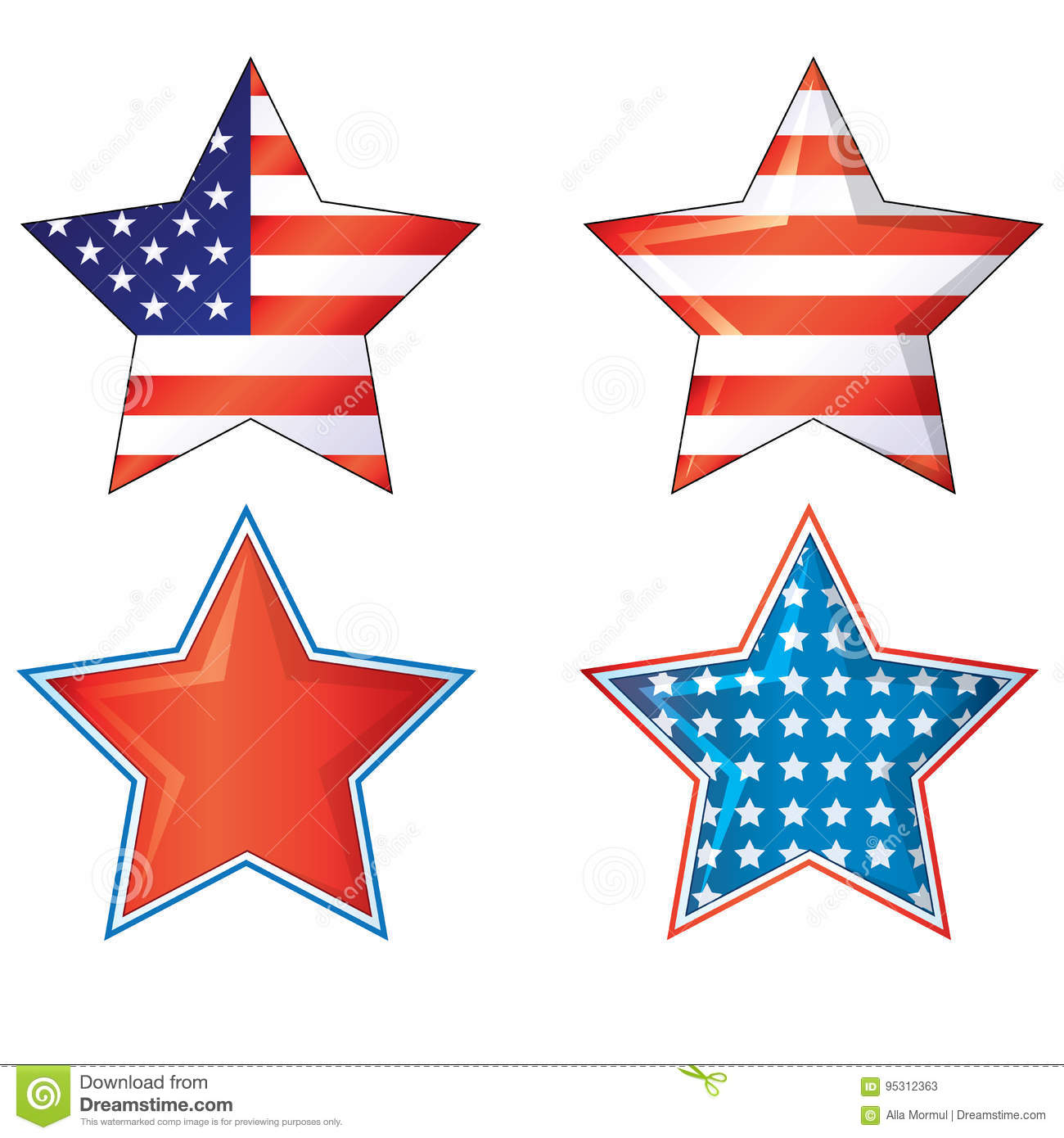 4th Of July Fourth Stars American Flags Vector Eps Ai Jpg 4th Julys.