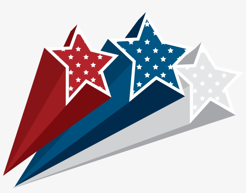 4th Of July Stars Clip Art Transparent PNG.