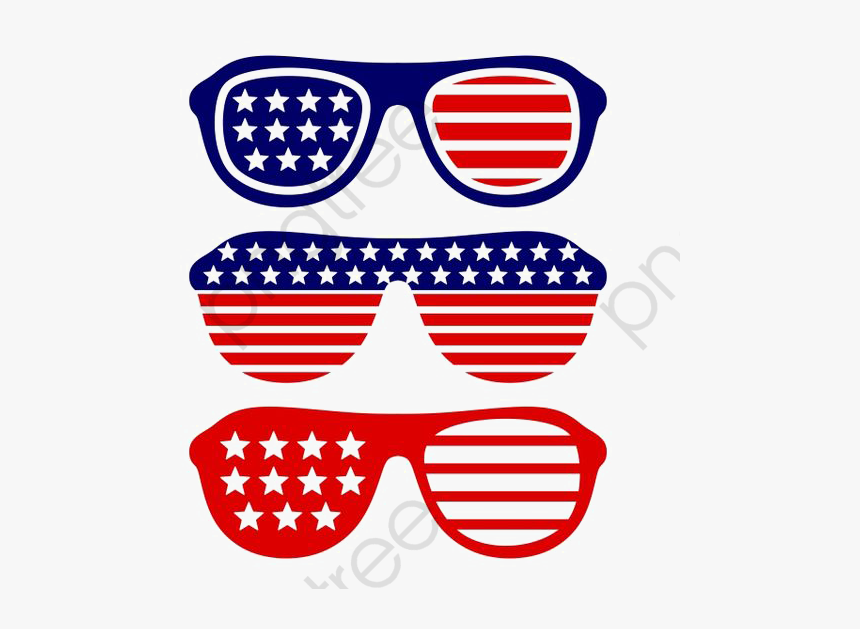 American Flag Glasses Png.