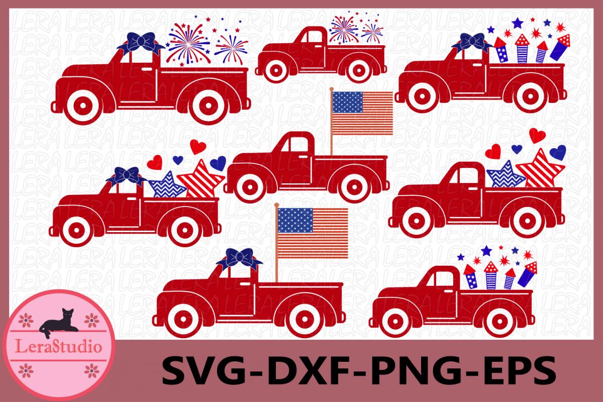 4th of July Svg, Truck Svg, Fireworks Svg, Fourth of July.