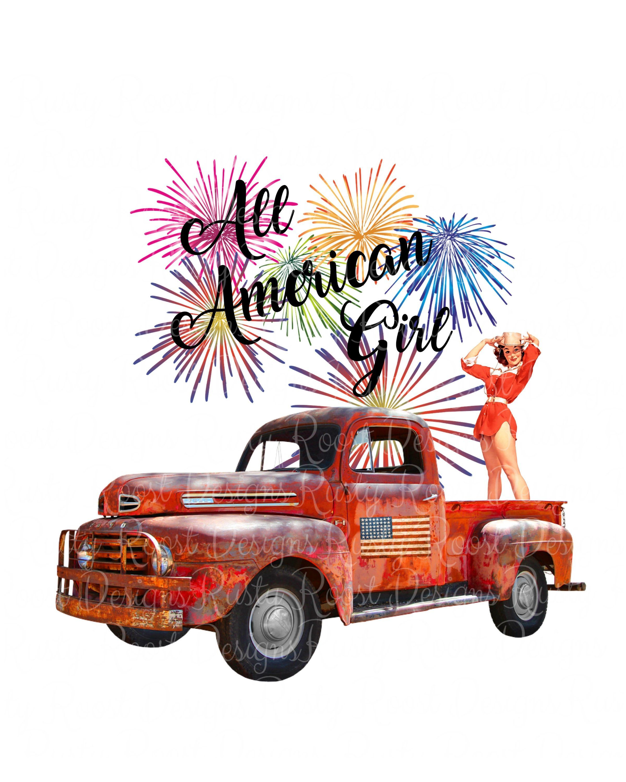 All american girl png,American girl,4th of July,sublimation.