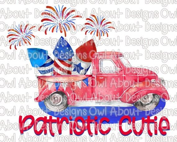 Patriotic Cutie Digital Download. Fourth of July.