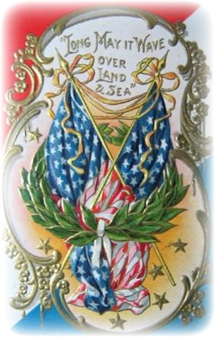 Free Patriotic Vintage July 4th Clip Art.
