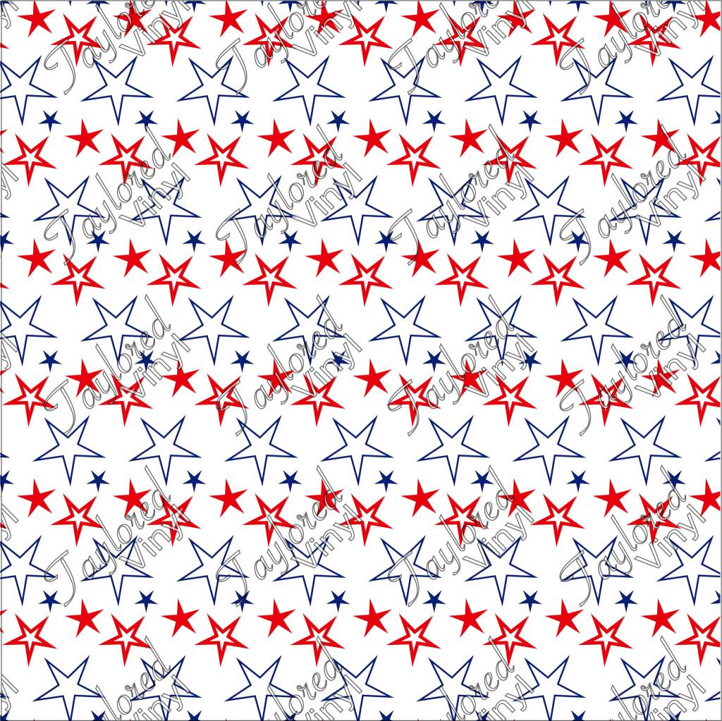 Oracal 4th of July Stars Printed Vinyl.