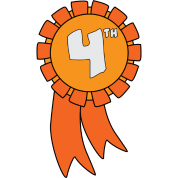 4th Place Clipart.