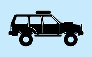 4x4 Car Free Vector Art.