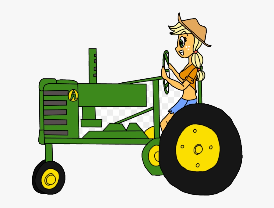 John Deere Cartoon Tractor Free Clip Art Girl Driving.