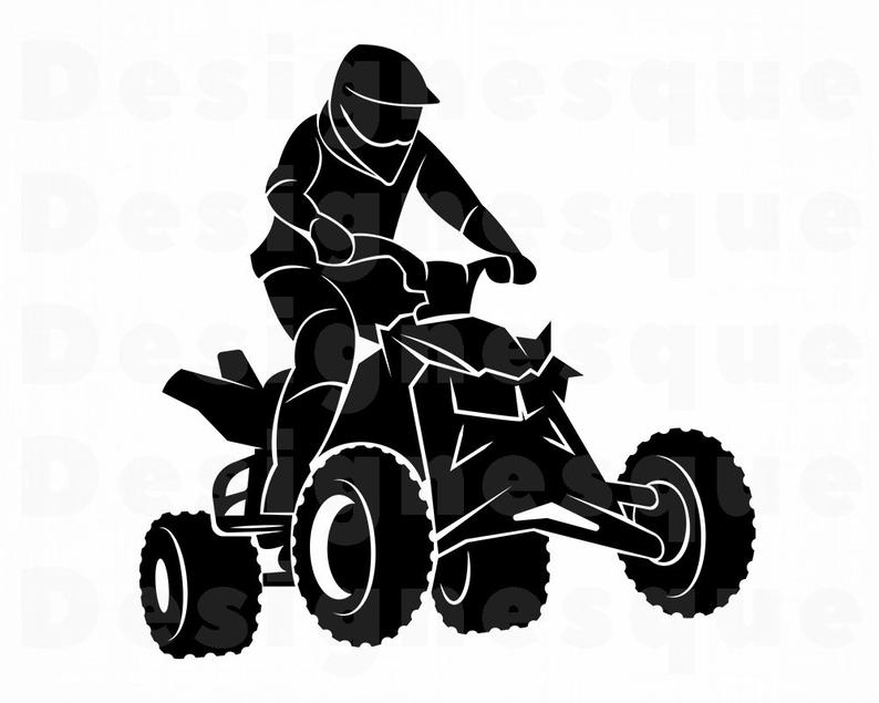 ATV #3 Svg, ATV Svg, 4 Wheeler Svg, Atv Motocross Svg, ATV Clipart, Atv  Files for Cricut, Atv Cut Files For Silhouette, Atv Dxf, Png, Eps.