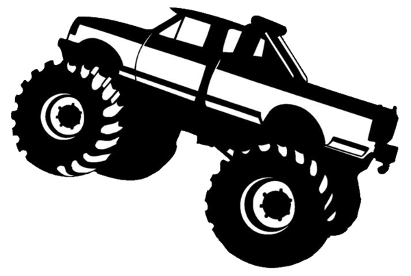 Car Black And White 4x4 Clipart.