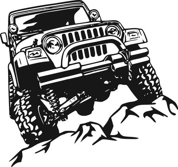 Jeep Decal Garage Home Decor Wall Hanging Graphic Design.