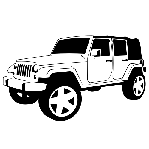 clipart of jeep rubicon.