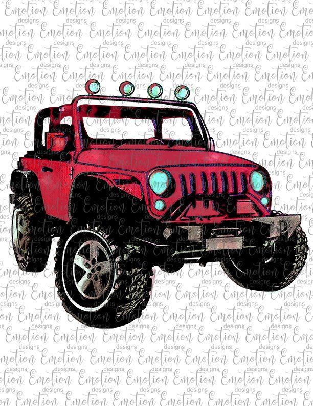 Watercolor Red 4x4 Clipart, instant download, PNG.