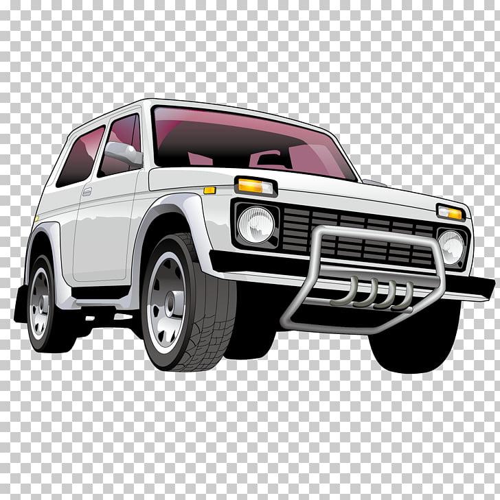 Car LADA 4x4 Euclidean , White jeep PNG clipart.
