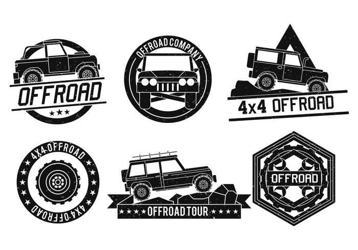 Off Road vector logo set.