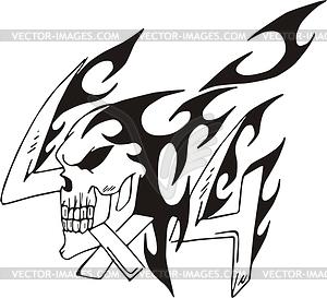 4x4 skull flame.
