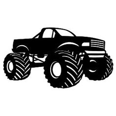 Jacked Up Truck Silhouette.