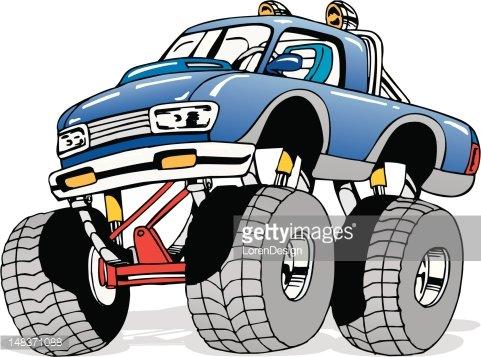 Cartoon Monster 4x4 Truck Clipart Image.